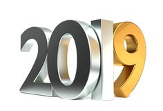 2019 gold 3d rendering. Design graphic Royalty Free Stock Photos