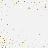 Gold 3d stars on white background Stock Photography