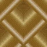 Gold 3d textured vector seamless pattern. Greek key meander surf. Ace background. Geometric abstract texture. Tiled golden greek ornament. Decorative ornate vector illustration