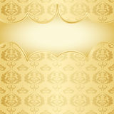 Gold damask background Stock Photography