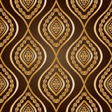 Gold damask Stock Photography