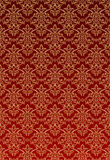 Gold Damask style wallpaper Stock Photos