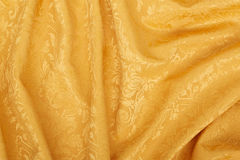 Gold damask tapestry wavy texture background Royalty Free Stock Image
