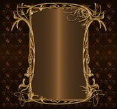 Gold with dark brown Royalty Free Stock Photography