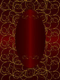Gold with dark red vintage background Stock Photo
