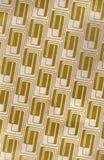 Gold, das Retro- Muster wiederholt Lizenzfreie Stockfotos