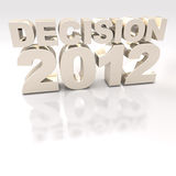 Gold Decision 2012 3D logo Royalty Free Stock Photography