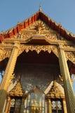Gold decor font of buddhist temple at wat samien nari in bangkok thailand Stock Photos