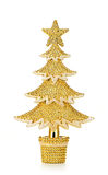 Gold decorated Christmas trees Stock Photography