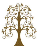 Gold decoration element in the form of a tree royalty free stock photo