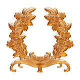 Gold decoration ornament design Royalty Free Stock Images