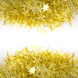 Gold Decoration Over and Under for Christmas and New Year Royalty Free Stock Photo