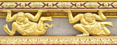 Gold Decoration of Thai Temple Stock Photography