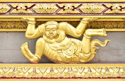 Gold Decoration of Ubosoth Stock Image
