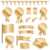 Gold decorations Stock Photography