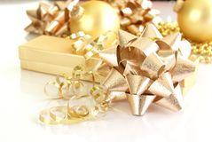 Gold Decorations Royalty Free Stock Photos