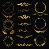 Gold decorations Royalty Free Stock Photography