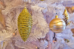 Gold decorations for your gold Christmas holidays Royalty Free Stock Photo