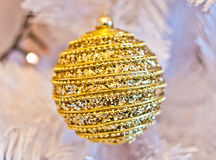 Gold decorations for your gold Christmas holidays Royalty Free Stock Images