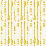 Gold decorative arrows Stock Photography