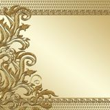 Gold decorative background Royalty Free Stock Image