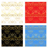 Gold Decorative Backgrounds Royalty Free Stock Photos