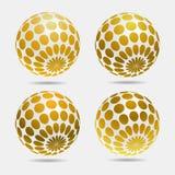 Gold decorative balls. Gold decorative 3d balls. Abstract vector illustration Royalty Free Stock Photography