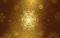 Gold decorative christmas background with snowflakes Royalty Free Stock Photography