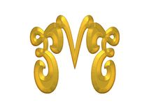 Gold Decorative Flourishes Stock Photography