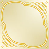 Gold decorative frame. Gold  decorative frame for greeting card, invitation. Elegant design element. Place for the text Royalty Free Stock Photo