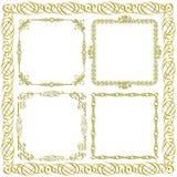 Gold decorative frames Royalty Free Stock Photo
