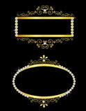 Gold decorative frames Stock Photography
