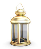 Gold decorative lantern in the old style Stock Photos