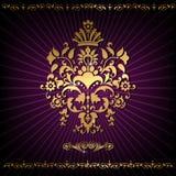 Gold decorative pattern Royalty Free Stock Image