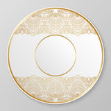 Gold decorative plate. Royalty Free Stock Photography