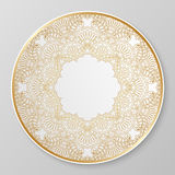 Gold decorative plate. Stock Image