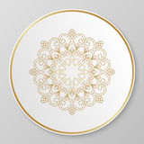 Gold decorative plate. Stock Images