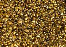 Gold decorative stones Stock Images