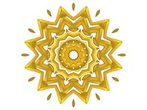 Gold Decorative Sun Pattern Royalty Free Stock Images