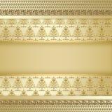 Gold decorative tree background. Gold decorative tree pattern background Stock Photography