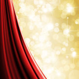 Gold defocused lights background Stock Image