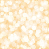 Gold defocused lights background. For christmas or holidays Royalty Free Stock Image