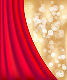Gold defocused lights background Stock Photography