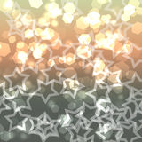 Gold defocused lights bokeh Royalty Free Stock Photo