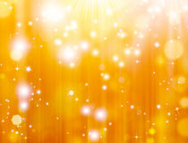 Gold defocused lights Stock Photo