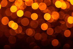 Gold defocused lights useful as a background Royalty Free Stock Photo