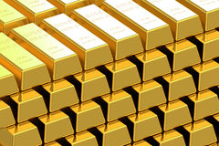 Gold delivery bars Stock Images
