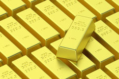 Gold delivery bars Royalty Free Stock Photos