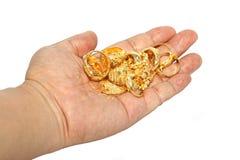 Gold in der Hand Lizenzfreies Stockbild