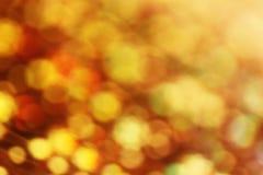Gold der weichen Lichter, Gelb, Orange, roter Hintergrund Lizenzfreie Stockfotografie